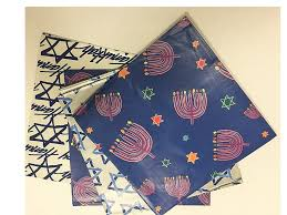 alef judaica happy hanukkah gift wrap 50 square feet of varying