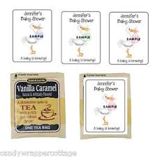 personalized tea bags 30 stork holding baby shower personalized tea bag labels or coffee