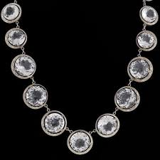 crystal link necklace images Vintage necklaces a brandt son jpg
