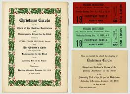 perkins concert programs 1905 1999 perkins for the blind
