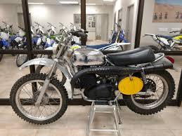 Classic Motocross Bike At The Dealer Motocross