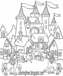 printable unicorn drawing mythical coloring book pictures for kids