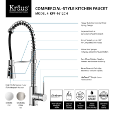 Kitchen Sink Faucets Reviews by Kraus Kpf 1612 Single Lever Pull Down Kitchen Faucet Review