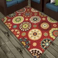 new orange turquoise red teal blue medallion area rug modern home