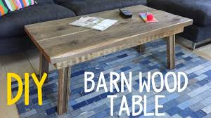 Woodworking Building A Coffee Table by Build A Simple Barn Wood Table Rustic Mod Youtube