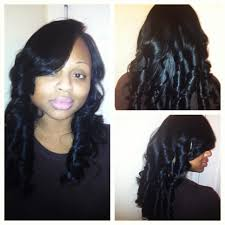 full sew in minimal leave out deep side part luxe lengths