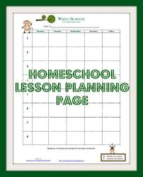 printable homeschool lesson plan template homeschool lesson planning page enchanted homeschooling mom