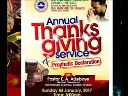 january 2017 thanksgiving service and prophetic declaration
