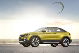 volkswagen geneva volkswagen t cross breeze concept the compact evoque convertible
