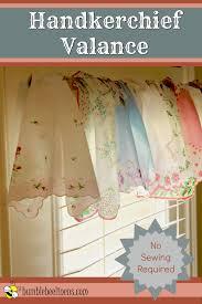 How To Make A No Sew Window Valance No Sew Handkerchief Valance Bumblebee Linens