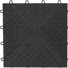 gladiator 12 in x 12 in charcoal polypropylene garage flooring