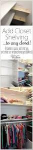 add closet shelving to any basic closet maximize space daydream