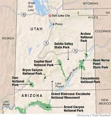 Capitol Reef National Park Map Tooling Around Utah Parks In A Vw Camper Van Sfgate