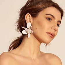 grande earrings flower earrings lele sadoughi