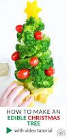 check out edible broccoli christmas tree it u0027s so easy to make