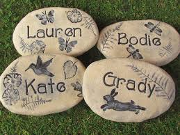 personalized garden stones personalized garden stones for yard garden outdoors home