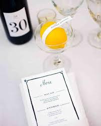 food and drink seating cards and displays martha stewart weddings