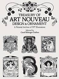treasury of nouveau design ornament dover pictorial archive