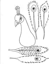 5 best images of printable craft pages peacock feather template