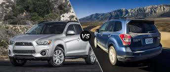 mitsubishi suv 2015 mitsubishi outlander vs subaru forester which sports utility is a