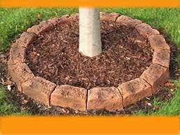 fast u0026 easy tree mulch ring faux stone edging faux stone tree