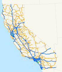 Map Of Usa With Highways by List Of State Highways In California Wikipedia