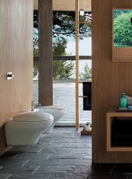 dazzling modern bathroom with wooden walls and gray stone tiles picturesque modern