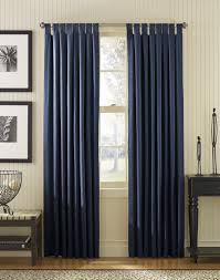 Blue And White Window Curtains Accessories Simple And Neat Window Treatment Decoration Using Navy