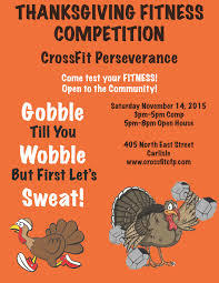 thanksgiving fitness competition with crossfit perseverance