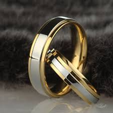 stainless steel wedding rings stainless steel wedding ring silver gold color simple design