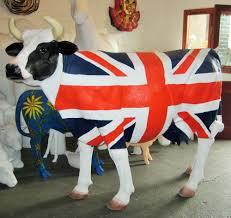 Union Jack Home Decor Union Jack Cow Life Size Jr 1634uj The Jolly Roger Life Size