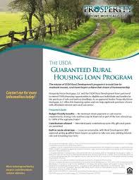 Usda Rural Housing Development Usda Prosperity Home Mortgage Llc