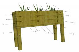 Wood Planter Box Plans Free by Ana White Elevated Planter Box Diy Projects