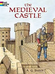 castles coloring book dover history coloring book