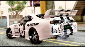 tuned supra toyota supra full tuning v2 for gta san andreas