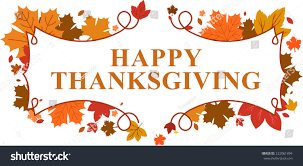 happy thanksgiving day leaves banner stock vector 222061894