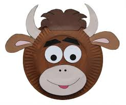 Paper Plate Monkey Craft - plate cow craft