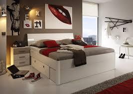 Schlafzimmer Bett Sandeiche Stella Trading Mars Bett Holz Eiche San Remo Hell Abs Weiß