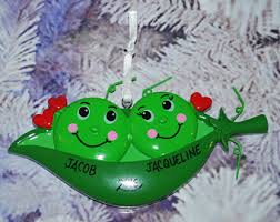 two peas in a pod christmas ornament flower bud christmas ornament polymer clay flower pod
