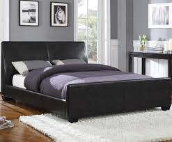 Black Headboard King Bedrooms Modern Leather Bedroom Furniture Black And White