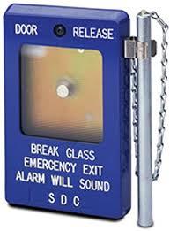 break glass door release sdc 490 series emergency break glass station with siren 3 1 2