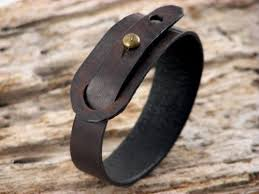 bracelet handmade leather images Couples leather bracelet handmade dark brown leather cuff jpg