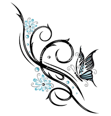 tribal flower butterfly style vector 1534757 by christine