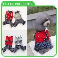 The New Foreign Hot Dog Clothes Spring Loaded Cotton Bib Plaid Pet