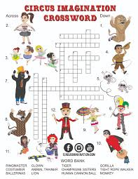 new exclusive circus printables coloring pages and crossword