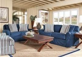 Living Room With Blue Sofa Denim Living Room Furniture Foter