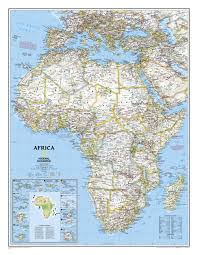 Mt Kilimanjaro Map Political Africa Map Large Size Wall Maps