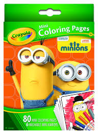 amazon crayola mini coloring pages minions toys u0026 games