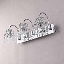 Captivating Crystal Bathroom Vanity Light 4 Light Chrome Crystal 4 Light Bathroom Fixture