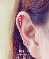 helix earing 16g five stud cz ear piercing stud barbell cartilage tragus helix